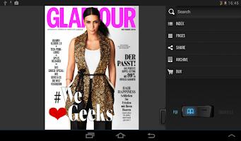 Screenshot of GLAMOUR MAGAZIN (D)