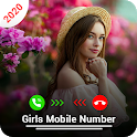 Girls Mobile Number Prank : Random Call & Chat icon