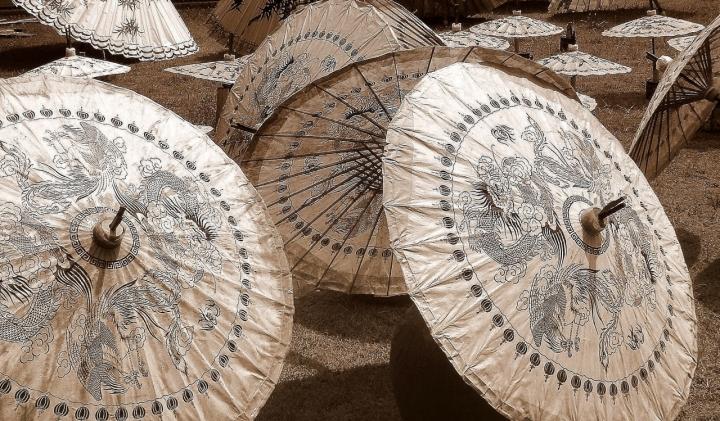 Ombrelli cinesi di ombry