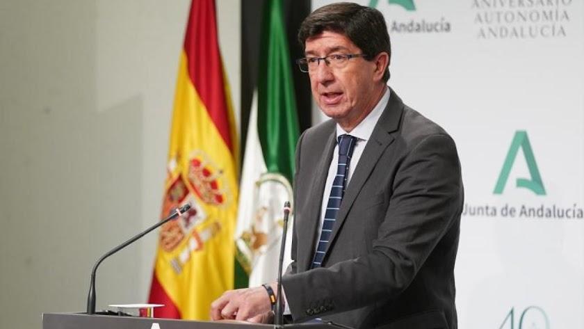 El vicepresidente de la Junta y consejero de Turismo, Regeneración, Justicia y Administración Local, Juan Marín.