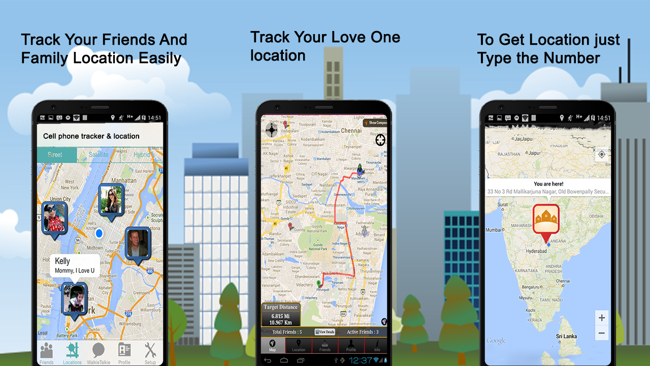 Cell Phone Tracker & Location- screenshot