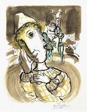 """Photo: Marc Chagall, """"Clown giallo"""""""