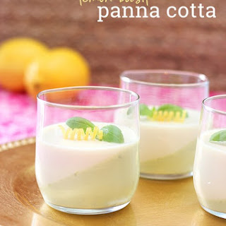 Lemon Basil Panna Cotta