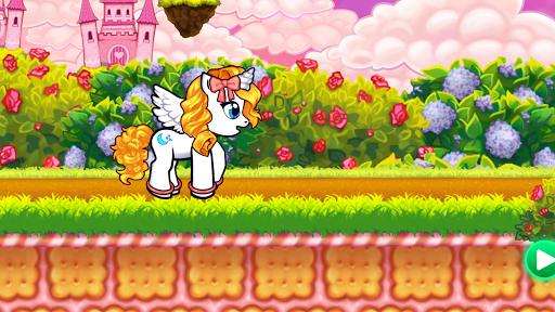 Run cute little pony race game