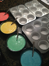 Photo: 18 cupcakes - Add one color at a time