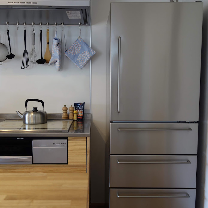 無印良品 ステンレス冷蔵庫 インテリア2