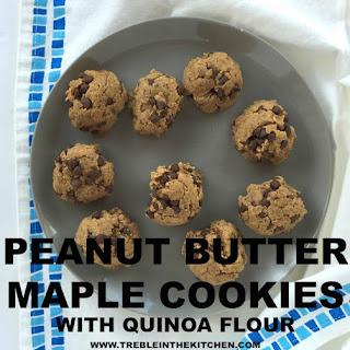 Peanut Butter Maple Cookies with Quinoa Flour.