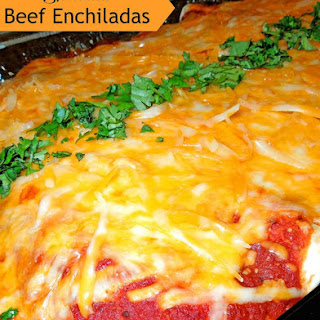Shredded Beef Enchiladas.