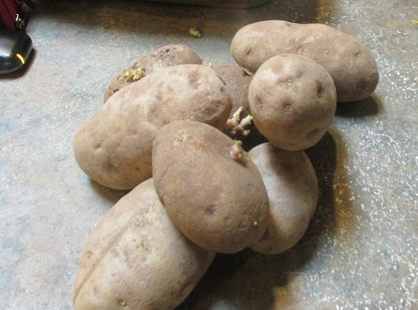 You will need about 3 pounds of Russet Potatoes.