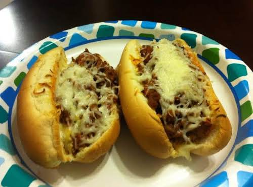 "Sloppy Italians ""We used cottage cheese instead of ricotta and hamburger buns..."