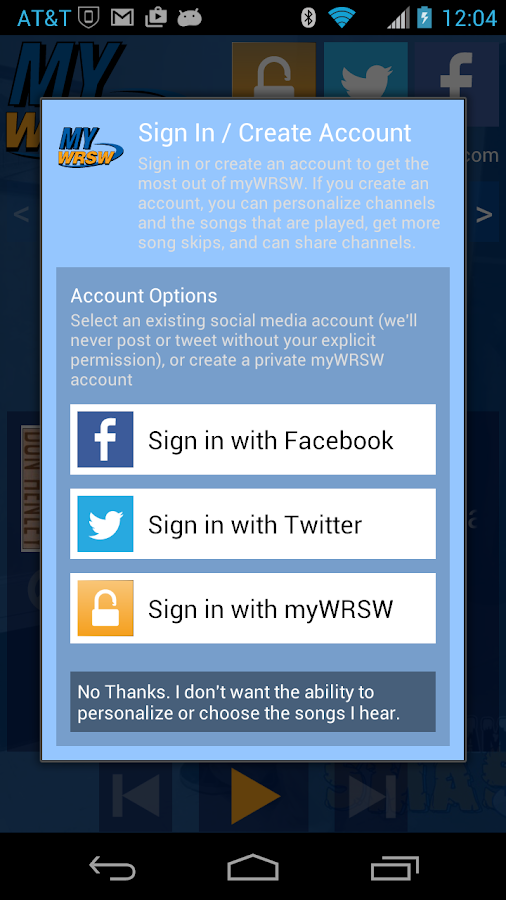 myWRSW- screenshot