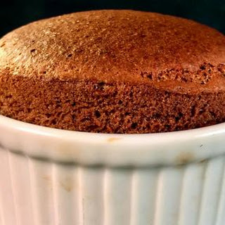 Two Ingredient Chocolate Souffle.
