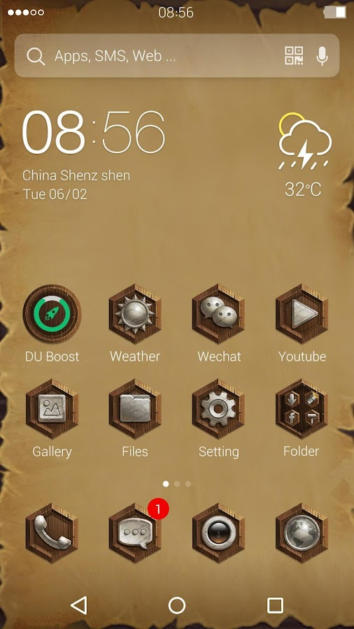 Marble Style:DU Launcher Theme- screenshot