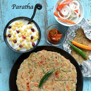 Zucchini Paratha Recipe | Easy Indian Flatbread Recipe | Vegetable Chapati Recipe | Vegetable Paratha