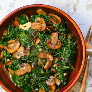 Sauteed Power Greens and Mushrooms.