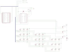 Photo: Circuit concept LED Cube 3x3x3