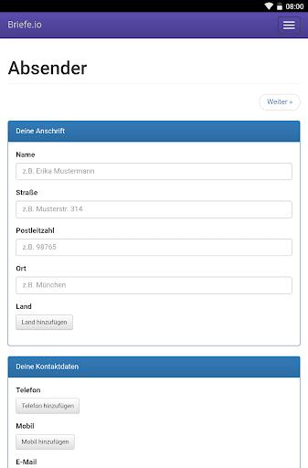 Briefe schreiben u2013 PDF zum Versenden oder Drucken 1.2.1 screenshots 10