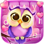 Love Owl Keyboard Art Icon