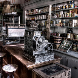 The Grocery Store by Michele Richter - Artistic Objects Antiques ( hdr; mrichterphotos )