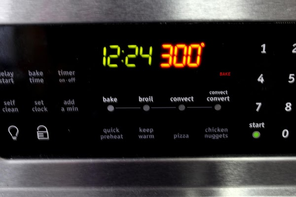 Preheat oven to 300' F. (Seriously, 300 degrees.)