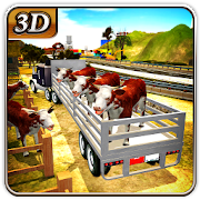 مزرعة شاحنة نقل الحيوانات