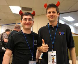 Photo: A FreeBSD enthusiast came by to say hi. It's always very cool to meet fans. :D