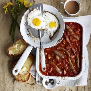 Sausage, Bean & Bacon Bake