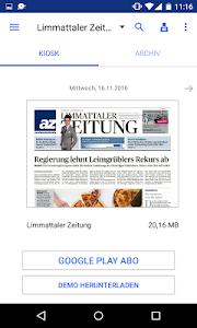 az Limmattaler Zeitung E-Paper screenshot 0