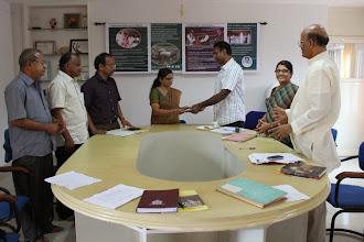 Photo: Release of Last Installment of ATMA Vayalnad Project : Dr K. Asha (Deputy Director, ATMA) Ms Shreelatha (Project Director, ATMA)