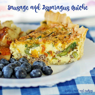 Sausage and Asparagus Quiche.