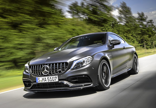 FACE IT: The Panamericana grille adds to the immense presence of the latest C63 models. Picture: DAIMLER