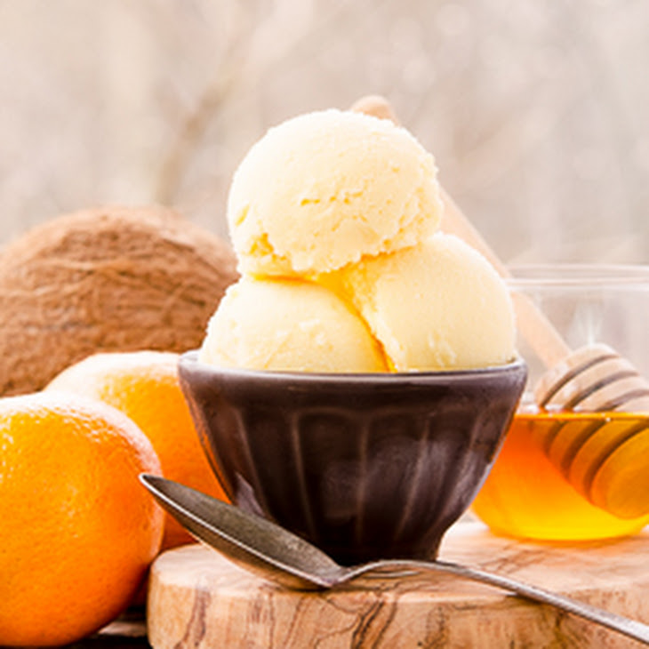 Honey Coconut Tangerine Sorbet Recipe