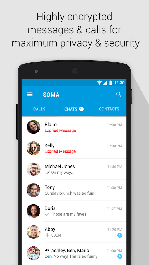 Screenshots of SOMA free video call and chat for Android