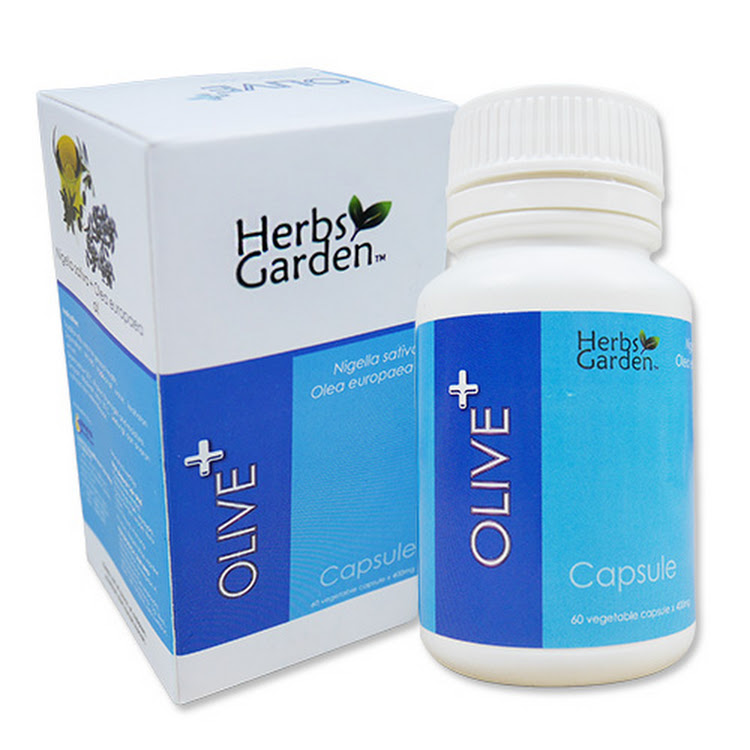 Herbs Garden Olive+ Olive+Habbatus Sauda Healthy Olive Extract Natural Supplement 60 Capsules by Supermodels Secrets