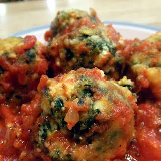 Spinach Tofu Gnudi Balls.
