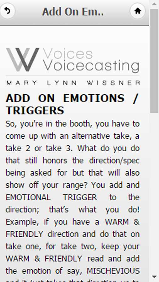 Voice Over Self Direction- screenshot