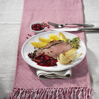 Roast Beef with Cranberry Sauce.