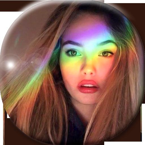 эффект радуги на фото приложение человека
