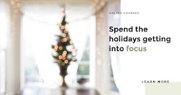 Holiday Online Courses - Facebook Ad item