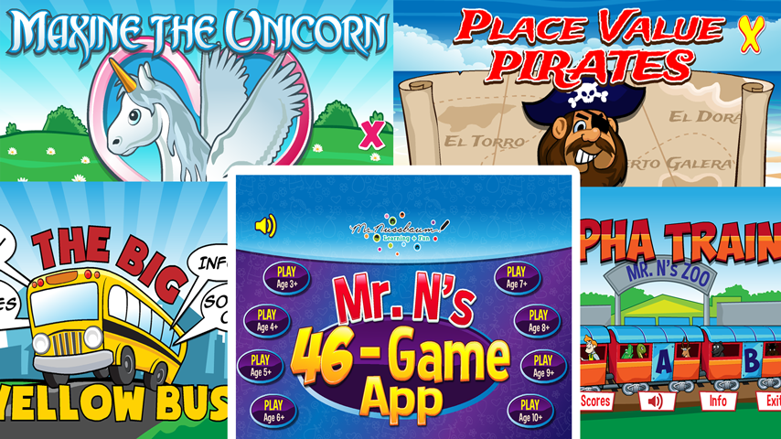 Mr. Nussbaum 46 Game Super APP- screenshot