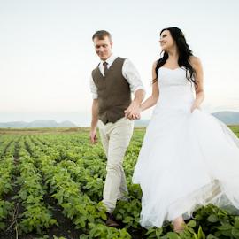 Walking by Lood Goosen (LWG Photo) - Wedding Bride & Groom ( wedding photography, wedding photographers, wedding day, weddings, wedding, brides, groom and bride, wedding dress, bride and groom, wedding photographer, bride, groom, bride groom )