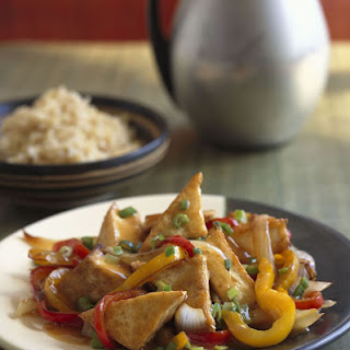 Sweet and Sour Tofu with Vegetables.