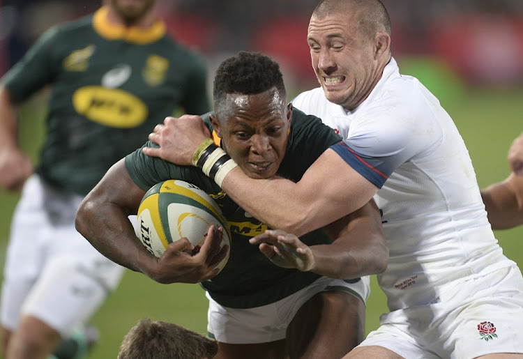 Sibusiso Nkosi for the Springboks and Mike Brown for England during the 2018 Test match at Ellis Park in Johannesburg, June 9 2018. Picture: GALLO IMAGES