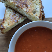 Tomato Soup & Grilled Cheese Sandwiches (Serves 2)