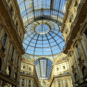 Ceiling of Vittorio Emanele II Gallery in Milan by Patrizia Emiliani - Buildings & Architecture Public & Historical ( milan, ceiling, vittorio emanuele ii gallery, italy, xix century,  )