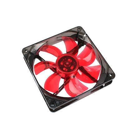 Cooltek vifte m/rød LED, Silent Fan 120, 120x25