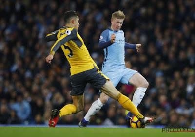 Kevin De Bruyne zorgt met een assist voor de zege van Manchester City tegen Arsenal