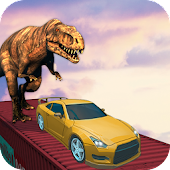 Impossible Track Dinosaur Car Chase Racing 3D