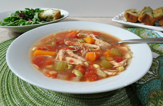 Photo: Chicken Vegetable Soup -  A healthy, hearty Crockpot chicken soup, chock full of vegetables and seasonings.  http://www.peanutbutterandpeppers.com/2012/12/09/chicken-vegetable-soup-2-more-nunatural-winners-weekly-recap/  #chickensoup   #crockpotrecipes   #vegetables   #soup