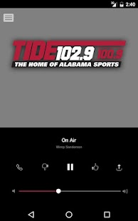 Tide 102.9 FM - Tuscaloosa (WNPT)- screenshot thumbnail